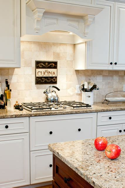 new venetian gold granite countertops traditional kitchen boston