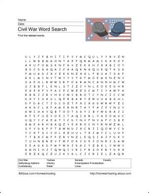 printable word search civil war 17 best images about us civil war on pinterest