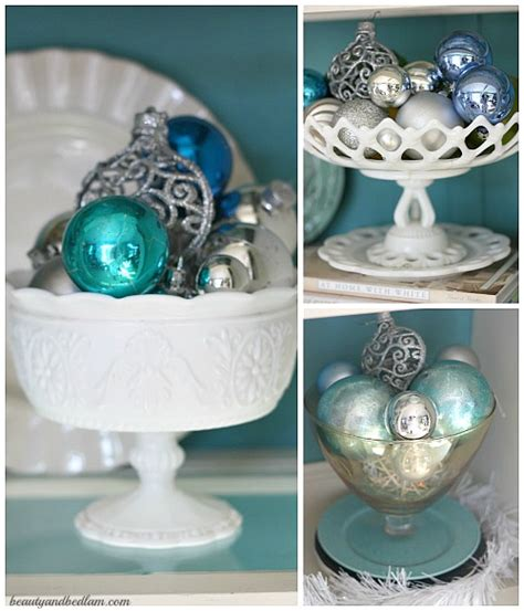 milk white christmas ornaments painted hutch style balancing and bedlam