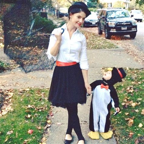 diy halloween costumes mary poppins penguin toddler