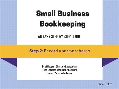 bookkeeping the ultimate guide to bookkeeping for small business books spent money in your business record a purchase step 2