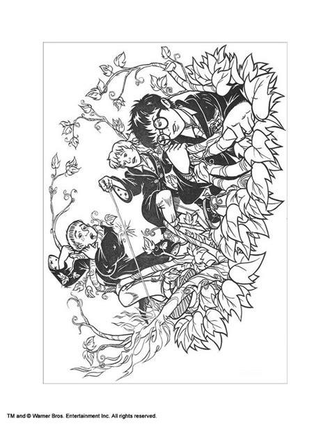 dibujos para colorear harry potter ogro y harry dibujos para colorear hermione y sus amigos es hellokids com