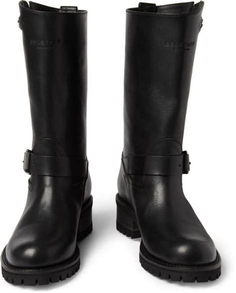 belstaff boots mens belstaff fulham leather biker boots in black for lyst
