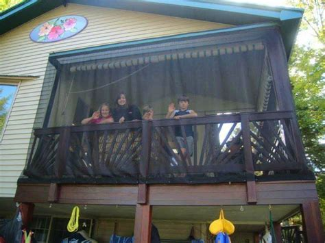 Outdoor Porch Mosquito Curtains   Easy Install   See Photos!