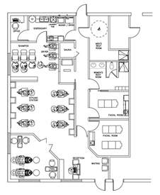 salon layouts floor plans beauty salon floor plan design layout 1700 square foot