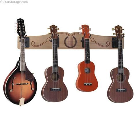 Multi Guitar Wall Rack by The Pro File Wall Mounted Multi Guitar Hanger