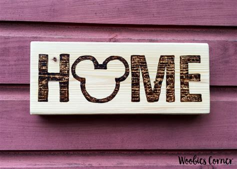 disney home sign rustic home decor rustic wall by