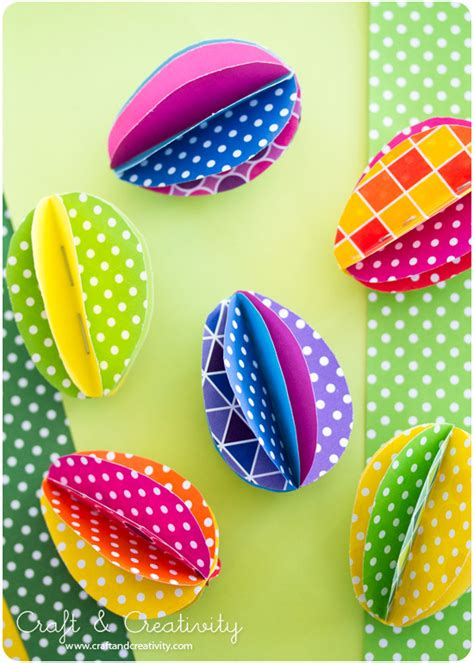 Easter Egg Paper Crafts - easter ideas 8 and easy crafts using paper