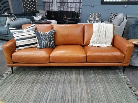 cognac leather reclining sofa cognac leather sofa furniture outfitters