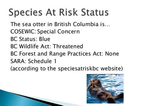design by humans order status bc species order at risk