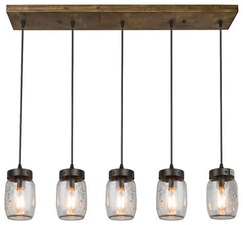 houzz kitchen pendant lighting lnc 5 light glass mason jar island pendant lighting
