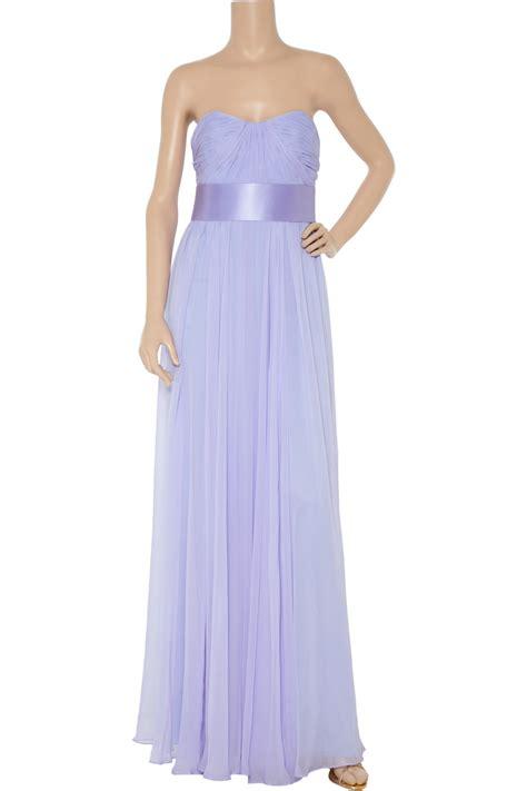 Marchesa Silk Chiffon Gown by Notte By Marchesa Strapless Silk Chiffon Gown In Purple Lyst