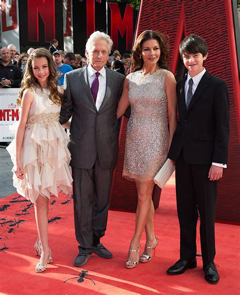 and catherine michael douglas supported by catherine zeta jones and