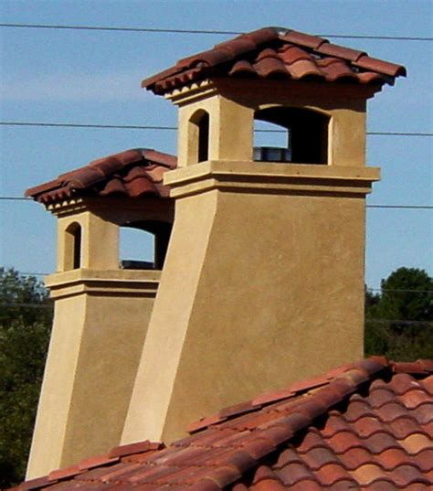 chimney caps mediterranean exterior by