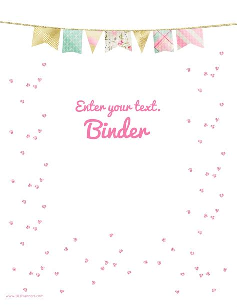 Binder Cover Page Template free binder cover templates