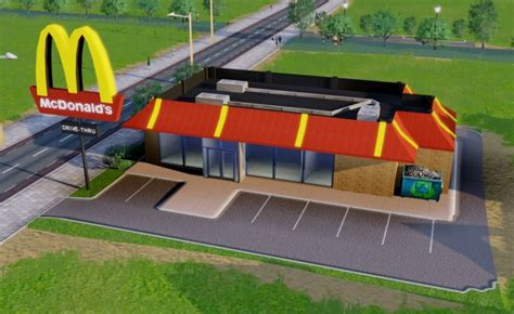 How Much To Build A House by First Building Mod Mcdonalds Restaurant Teh Sims