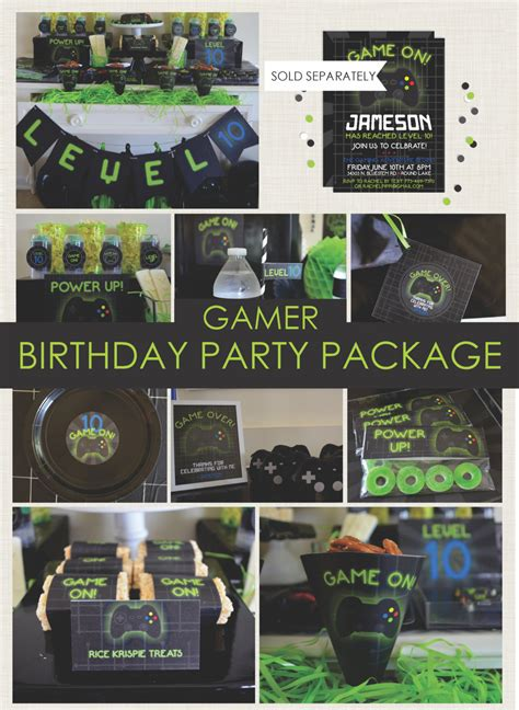 themed gamer party gamer party package playstation party xbox game truck
