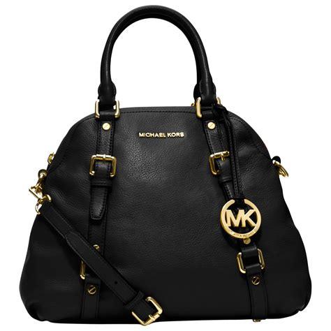 Mk Bag michael michael kors bedford leather bowling bag in black black lyst