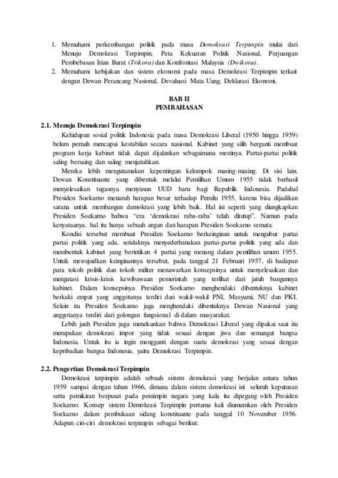 Sistom Politik 1965 Original makalah sejarah sistem dan struktur politik dan ekonomi masa demokr