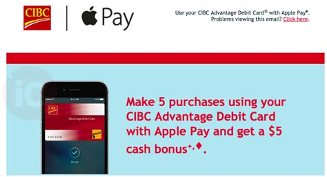 how to make purchases with a debit card cibc apple pay promo offers 5 bonus for debit card