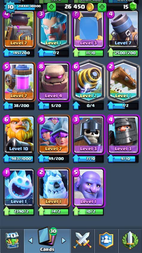 r87 clash royale lvl 10 legendary princess lvl 1 wizard lvl 1