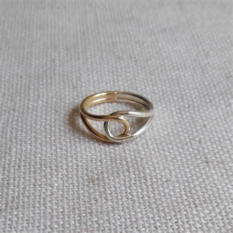 Handmade Silver Ring - lil handmade silver gold filled ring bg silversmiths