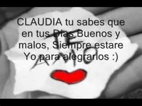imagenes te amo claudia te amo base de rap romantico jimmy y claudia youtube