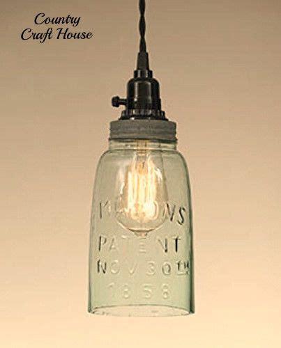 Primitive Pendant Lighting Primitive Country Shabby Farmhouse Chic Jar Pendant Light Hangi