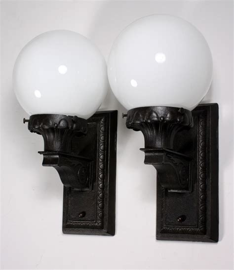 early american exterior lighting superb pair of antique early 1900 s exterior sconces with