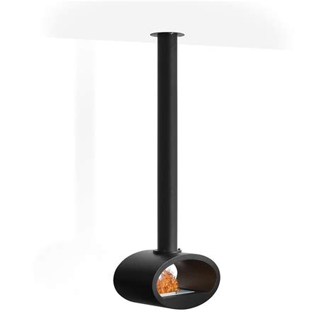 Ceiling Mounted Fireplace by Ceiling Mounted Bioethanol Fireplace Black