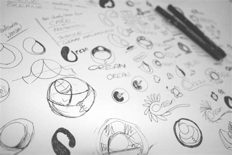 the sketchbook logo 30two orean personal care identity design