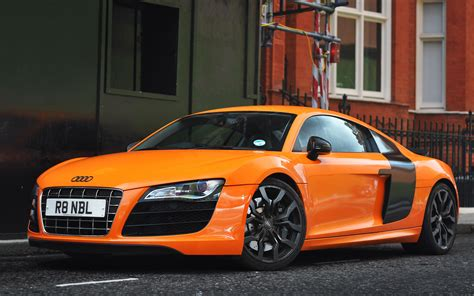orange cars orange audi r8 wallpaper hd car wallpapers