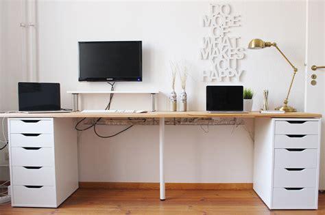 schreibtische lang office update diy desk