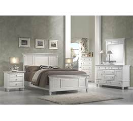 white bedroom collection king panel bed set wood