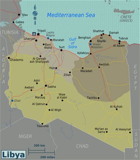 libya map with cities detailed regions map of libya with all cities libya