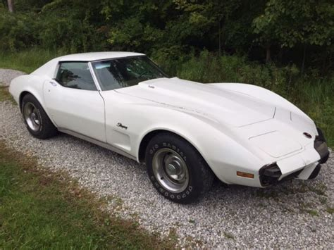 Sell Used 1975 Chevy Corvette Sport Coupe L82 4 Speed In Coldwater Ohio United States 1975 Corvette T Top Coupe L82 Auto Ps Pdb Tilt A C Great 2 Owner Project Classic