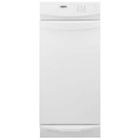 free standing trash compactor whirlpool 15 in freestanding trash compactor in white