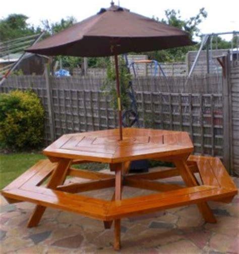 sided hexagonal picnic patio deck table plans ebay