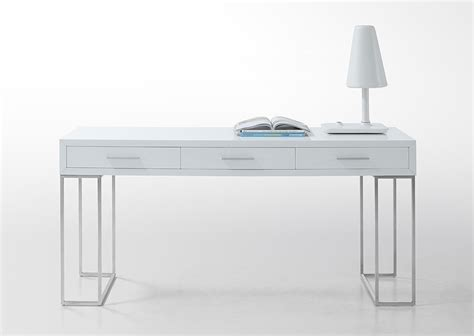Lacquer White Desk by Sheldon Modern White Lacquer Desk