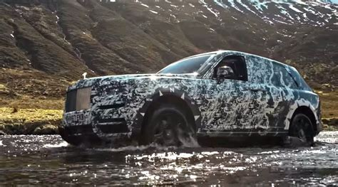 2018 rolls royce cullinan rolls royce cullinan suv shown in action for first time