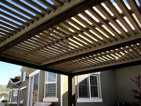 slant roof tain timber frame arbor with slanted roof contemporary patio salt lake city by western