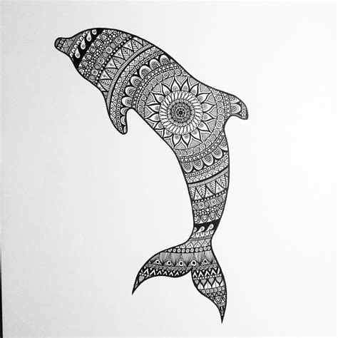 zentangle tattoo animal zentangle dolphin zentangle dolphin black white