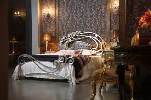 luxury metal bed with charming headboard by