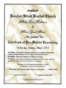 Premarital Counseling Certificate Of Completion Template by Premarital Counseling Completion Certificate Pictures