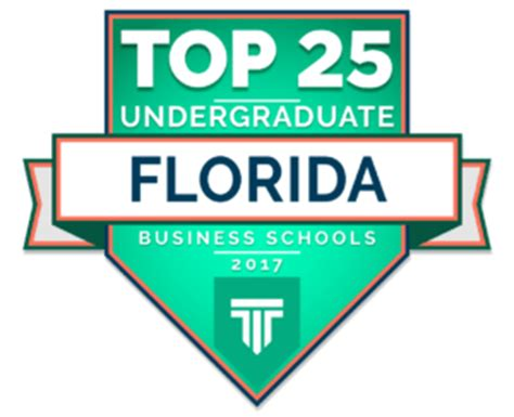 Best Undergraduate Degree For Mba by Top Undergraduate Business Schools In Florida 2017