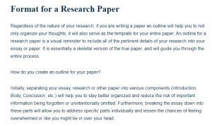 format   research paper  research guide  students