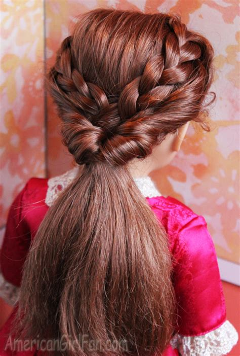 hairstyles american girl dolls doll hairstyle braided ponytail flip american girl