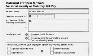 Statement Of Fitness For Work Template by The New Fit Notes Dc Employment Solicitors Southton