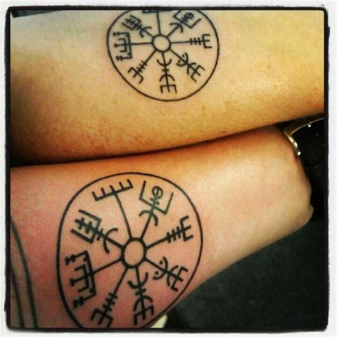 viking compass tattoo viking compass quot if this sign is carried one will never