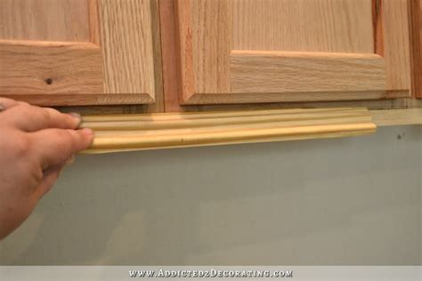 kitchen cabinet bottom molding wall of cabinets installed plus how to install upper